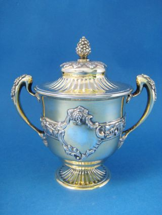 Antique Solid Silver 2 Handle & Lidded Trophy Cup 1909 R&w Sorley Rare Example photo