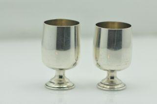 B & M Sterling Silver Shot Glasses 2pc photo