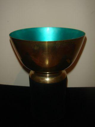 Sterling Silver Towle Green Enamel 8 Oz Bowl photo