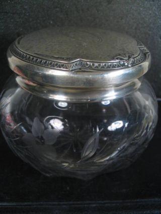 Webster Sterling & Cut Glass Dresser Jar photo
