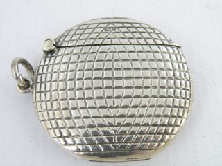 Silver ' Golf Ball ' Vesta Case,  Chester 1905 By Sampson Mordan & Co. photo