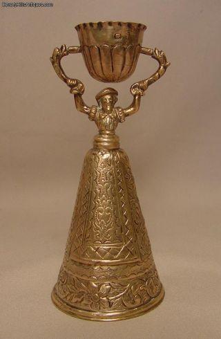 Antique Hallmarked German Silver Wedding Toast Cup Circa 1880 photo