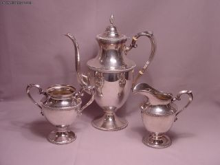 M.  Fred Hirsch Co.  American Sterling Silver Tea Or Coffee Service 33.  85 Troy Oz photo