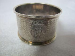 Antique Silver Napkin Ring Wa Birmingham 1942 photo