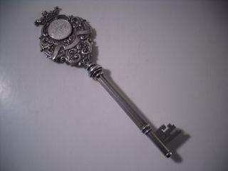 A Large Antique Inscribed Silver Ceremonial Presentation Key : Birmingham 1905 photo