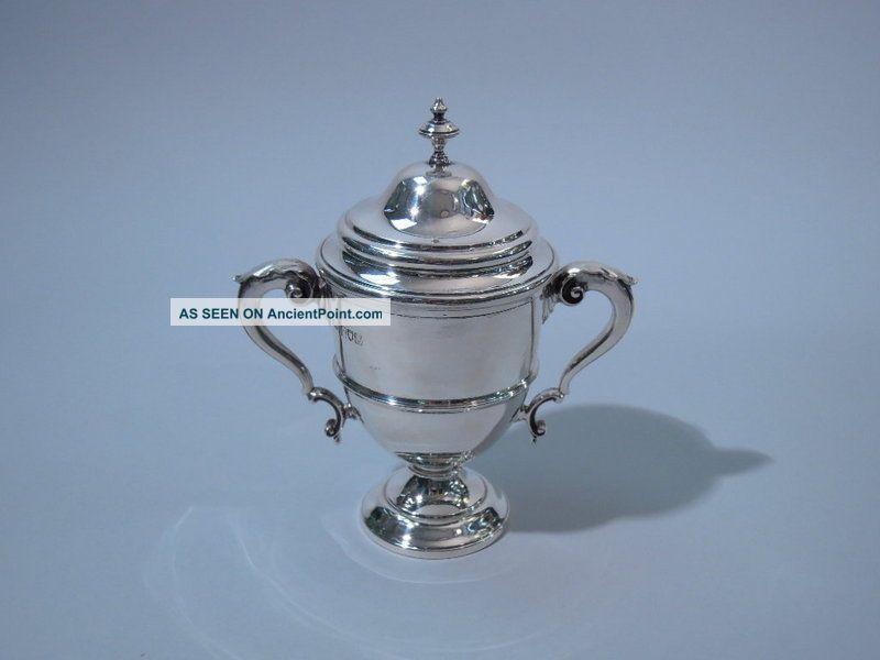 Georgian English London Crichton Sterling Silver Trophy Cup George V 1915 United Kingdom photo