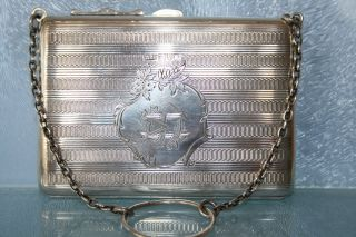 An Amazing Antique Solid Silver Large Purse Hm Chester 1909 113.  4g photo
