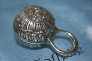 Sterling Solid Silver Henry Matthews Babies Rattle Hm 1900 - 30.  8g photo