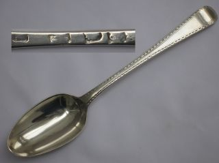 Stunning Antique Sterling Silver English Early George Iii 1778 Spoon. photo