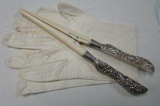 Sterling Silver Glove Stretcher 1800 ' S photo