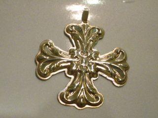 1994 Reed & Barton Sterling Silver Christmas Cross photo
