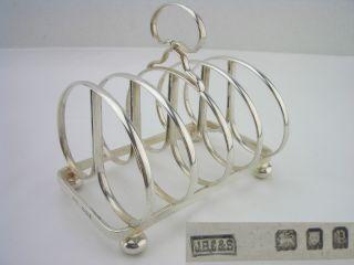 Vintage Silver Toast Rack 1930 4oz J B Chatterley & Sons Ltd photo