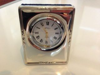 R Carrs Of Sheffield 1995 Solid Sterling Silver 925 Clock Not Scrap photo