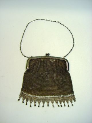 Antique Sterling Silver Fine Ladies Chain Purse Whiting Davis Co.  - 132 G photo