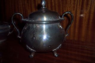International Silver Silverplate Wilcox 7074 Sugar Bowl photo