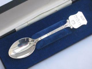 English Sterling Silver Cased Silver Jubilee Elizabeth Ii Spoon photo