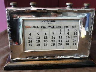 Scottish Calendar Sterling Silver Mounted - Made In Edinburgh 1913 photo