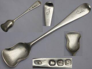 Richard Britton,  English Sterling Silver Georgian 1817 Salt Shovel London. photo