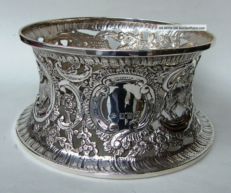 Fine Dublin Irsih Silver Dish Ring 15.  8 Ozs. United Kingdom photo