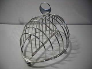 A Rare Antique George Iii Silver Toast Rack : London 1786 photo