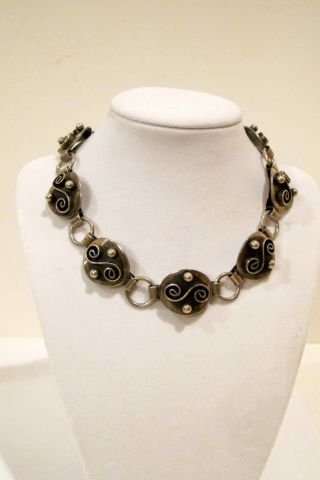 Sterling Silver Necklace,  American,  Made In 1930 - 1950,  Marked. photo