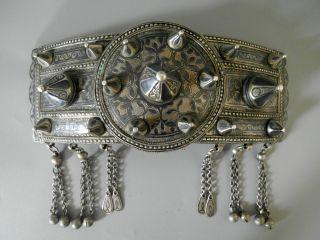Russian Kavkaz Antique Inlay Niello Silver Belt Buckle Russia Kavkaz photo