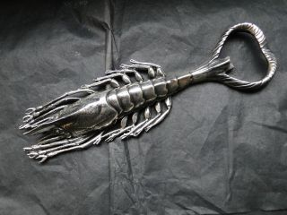 Lobster Bottle Opener Sterling Silver Made In Milano Italy C.  1960 photo
