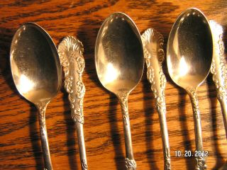 12 Holmes And Edwards Spoons Waldorf Pattern Sterling Inlaid 1894 photo