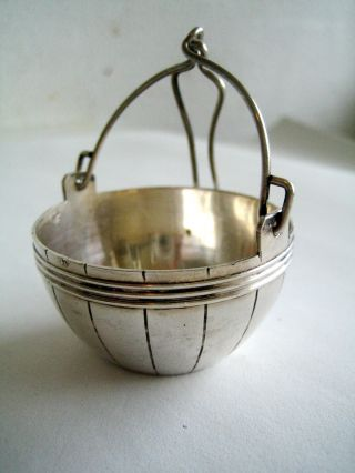 Antique French Sterling Silver Tea Strainer photo