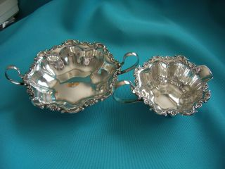 Sterling Silver Cream And Sugar Bowl - Dominck & Haff For Baily Banks And Biddle photo