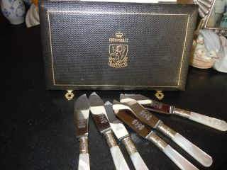 Vintage Kirk And Matz (england) Condiment Knives - - 6 In Total photo