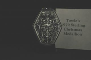 Towle,  1979 Vintage Sterling Silver ' Nine Ladies Dancing ' Christmas Ornament photo