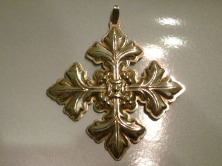 1997 Reed & Barton Sterling Silver Christmas Cross photo