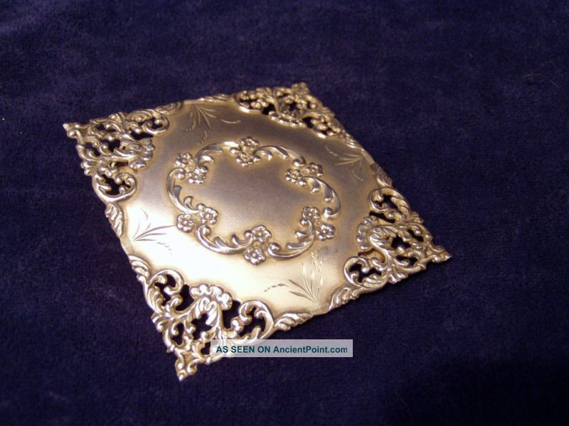 Sterling Silver Belt Buckle Cr 1890 Other photo