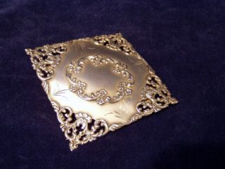 Sterling Silver Belt Buckle Cr 1890 photo