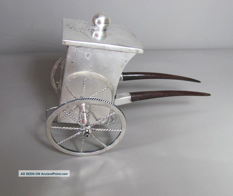 Chinese Export Silver Sterling Rickshaw 314 Grams 10.  09 Troy Ounces Other photo
