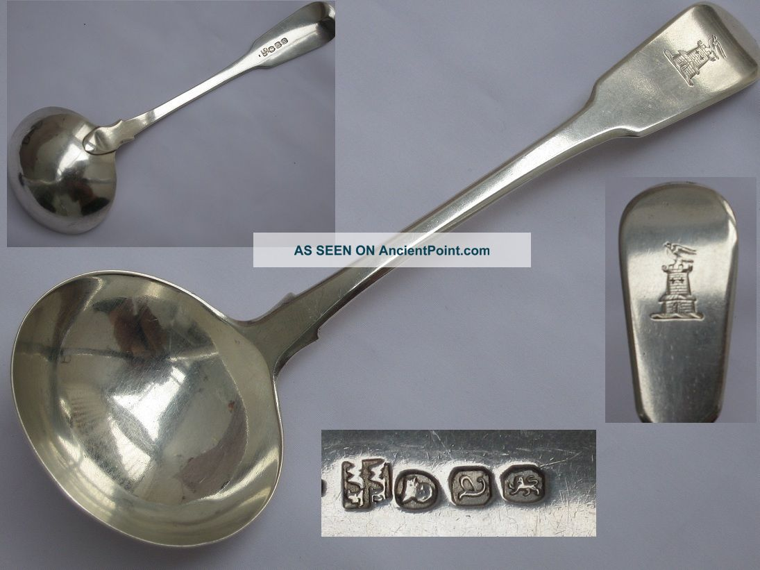 George Iii 1816 Sterling Silver Sauce Ladle William Eley & William Fearn Other photo