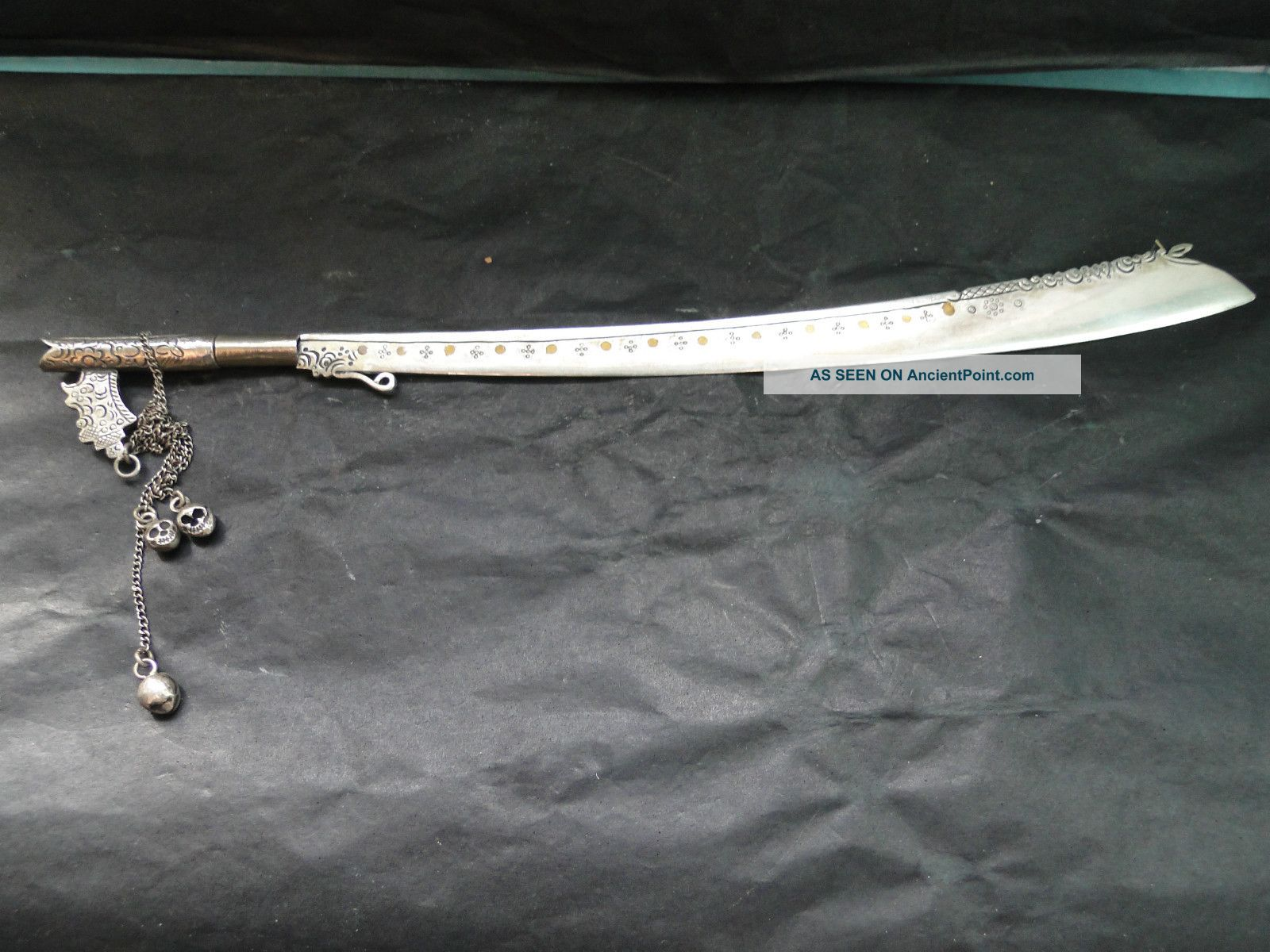 Oriental Paper Knife Made In Sterling Silver 1870 Other photo