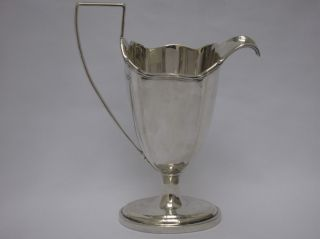 Quality Large Antique Sterling Silver English Edwardian Jug,  Thomas Bradbury photo