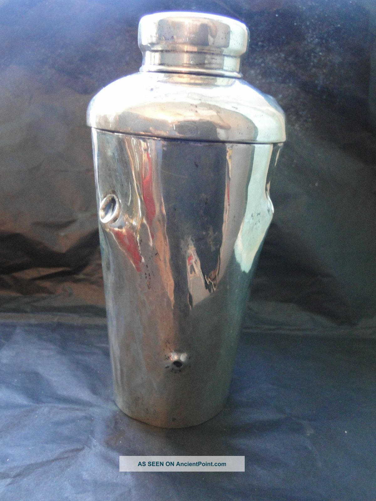 Art Deco Cocktail Shaker Sterling Silver 800 Made In 1940 - Italian Other photo