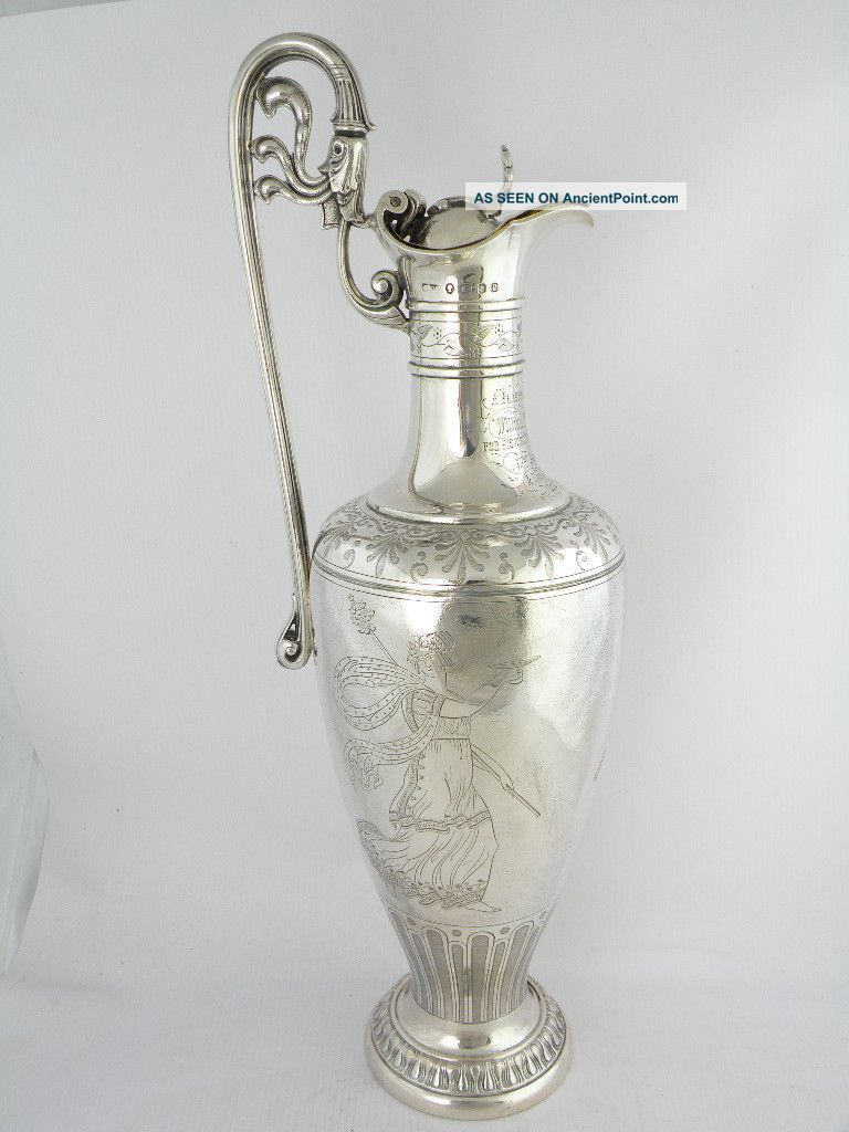 Fantastic Quality Victorian Silver Claret Ewer,  London 1858 Other photo