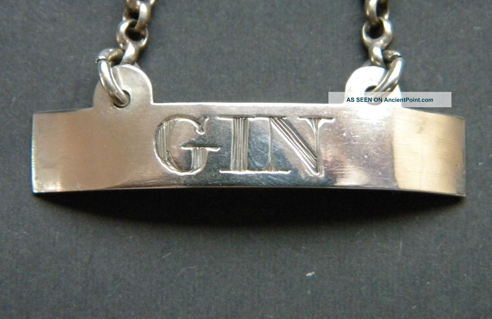 Georgian Antique English Primitive Solid Silver Gin Decanter Wine Label C1800 Other photo