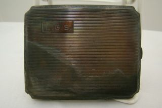 Sterling Silver L.  G.  S Cigarette Case photo