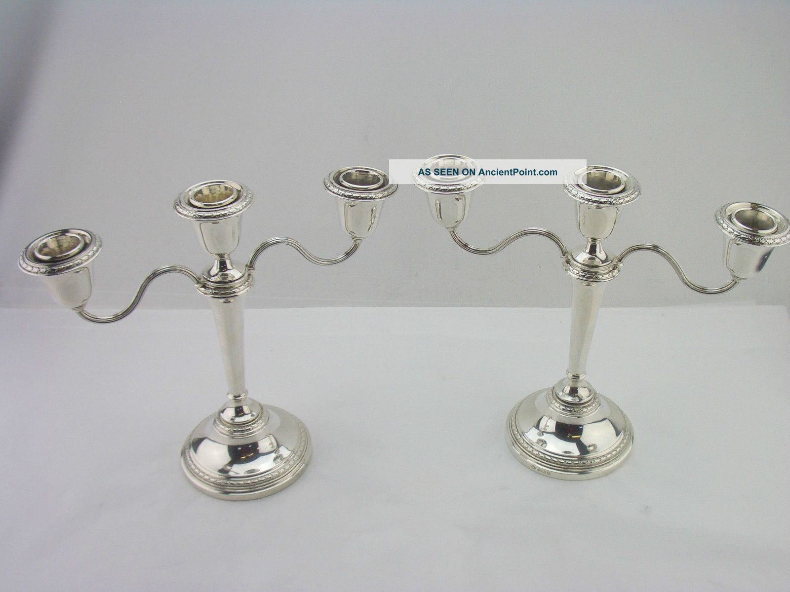 Attractive Silver Candelabras Birmingham 1959 Adie Brothers Other photo