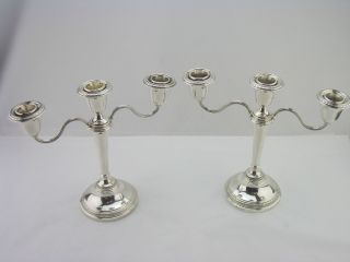 Attractive Silver Candelabras Birmingham 1959 Adie Brothers photo