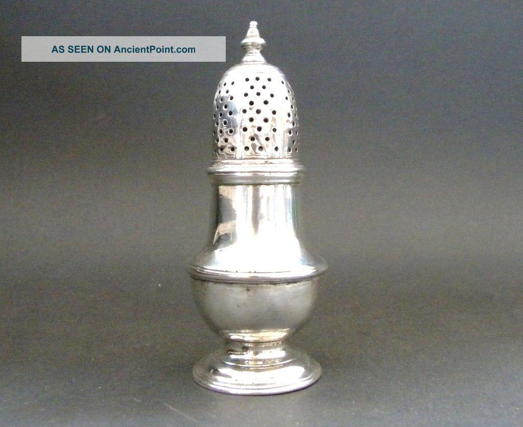 Samuel Wood Antique Georgian Sterling Silver Pepper Sugar Caster London 1749 Other photo
