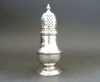 Samuel Wood Antique Georgian Sterling Silver Pepper Sugar Caster London 1749 photo