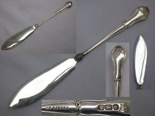 A Ornate English Sterling Silver Butter Spreader Thomas Bradbury Of Sheff photo