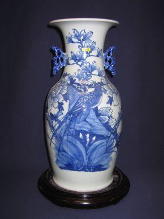 Chinese Antique Bw Bird Vase,  Tongzhi Period photo