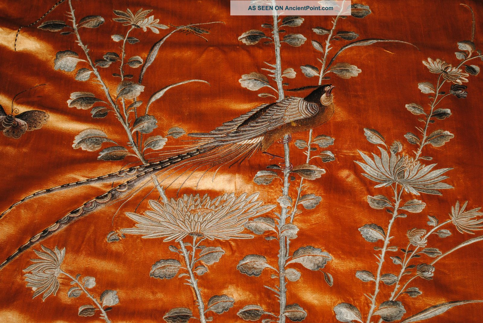 Antique Chinese Silk Embroidered Wall